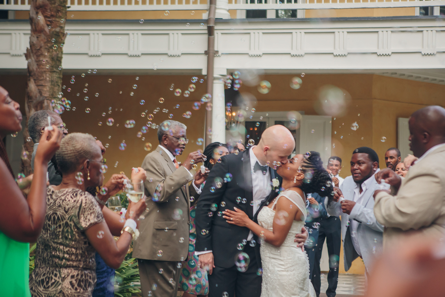 Bubbles exit at The William Aiken House in Charleston, SC //  A Lowcountry Wedding Magazine & Blog
