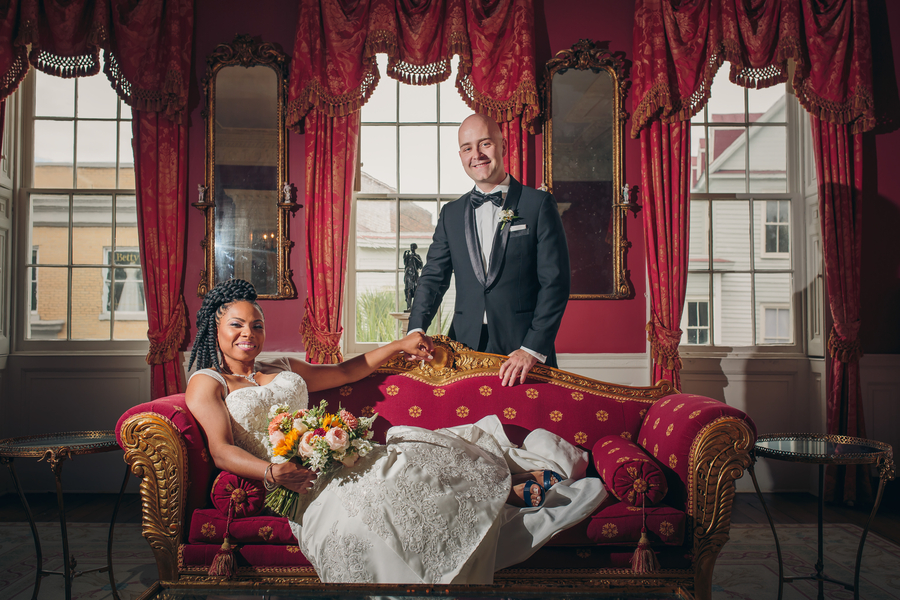 Bride and Groom at The William Aiken House  //  Charleston wedding venue  // // A Lowcountry Wedding Magazine & Blog
