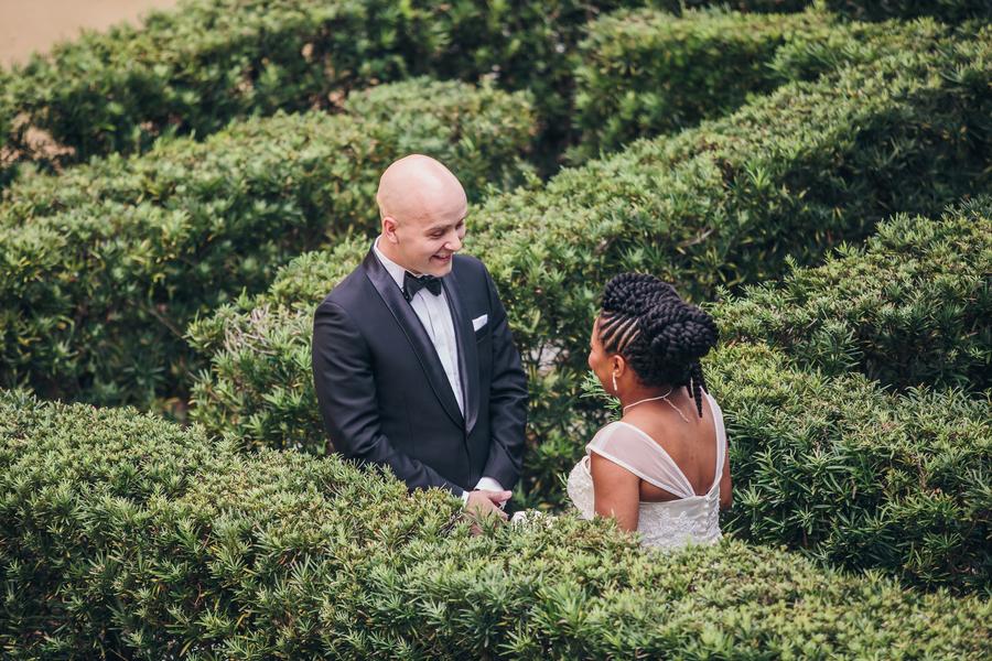 Jennifer & Peter's First look at The William Aiken House wedding  //  Charleston wedding venue // A Lowcountry Wedding Magazine & Blog