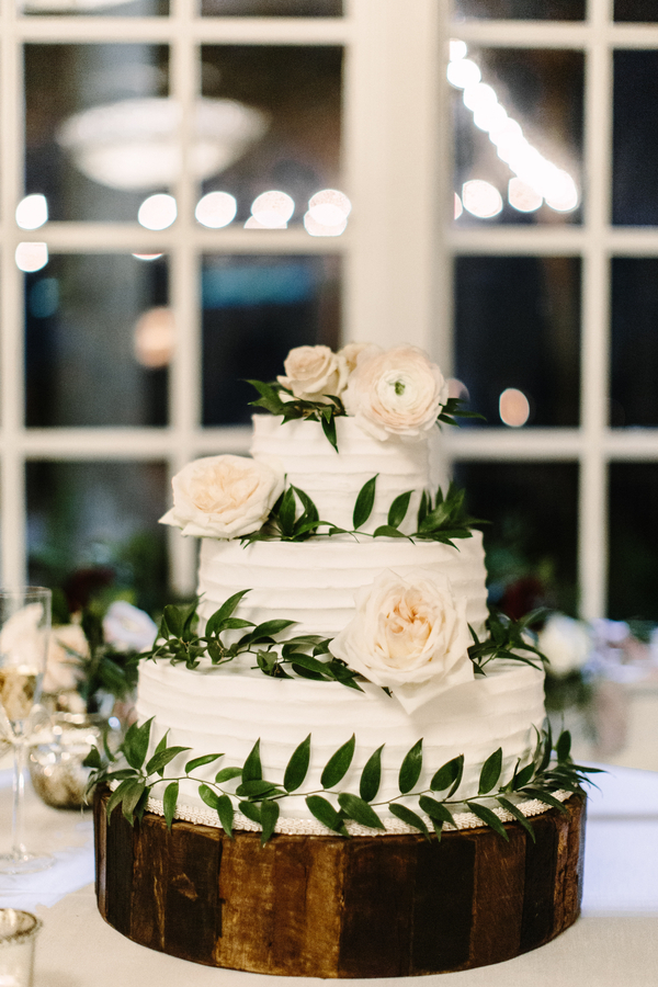 White wedding cake at The King & Prince Resort  //  Saint Simons Island wedding photos by River West Photography // A Lowcountry Wedding Magazine & Blog
