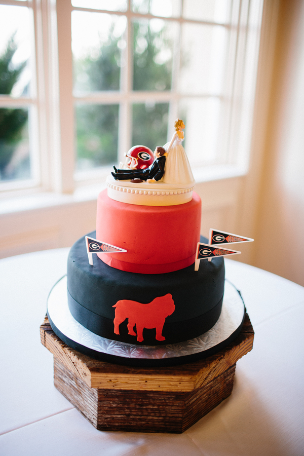 University of Georgia groom's cake   //  Saint Simons Island wedding photos by River West Photography // A Lowcountry Wedding Magazine & Blog