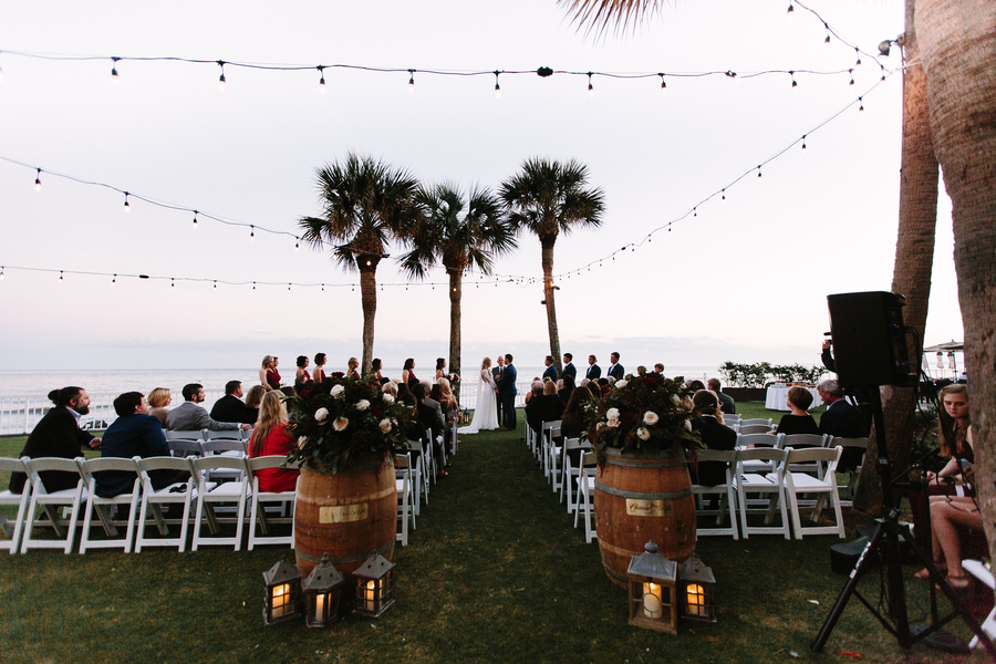 Deven & Justin's Oceanfront Lawn ceremony at King & Prince Resort wedding on Saint Simons Island, Georgia // A Lowcountry Wedding Magazine & Blog