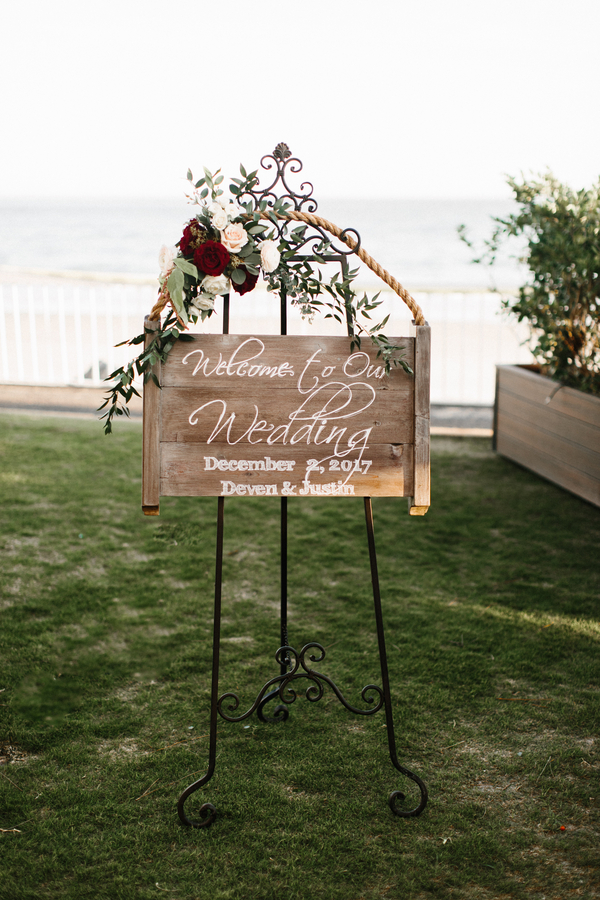 Ceremony sign at King & Prince Resort wedding  //  Saint Simons Island, Georgia wedding venue  // A Lowcountry Wedding Magazine & Blog