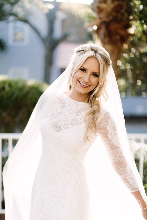 Grace Loves Lace wedding gown at King & Prince Resort wedding  //  Saint Simons Island, Georgia wedding venue  // A Lowcountry Wedding Magazine & Blog