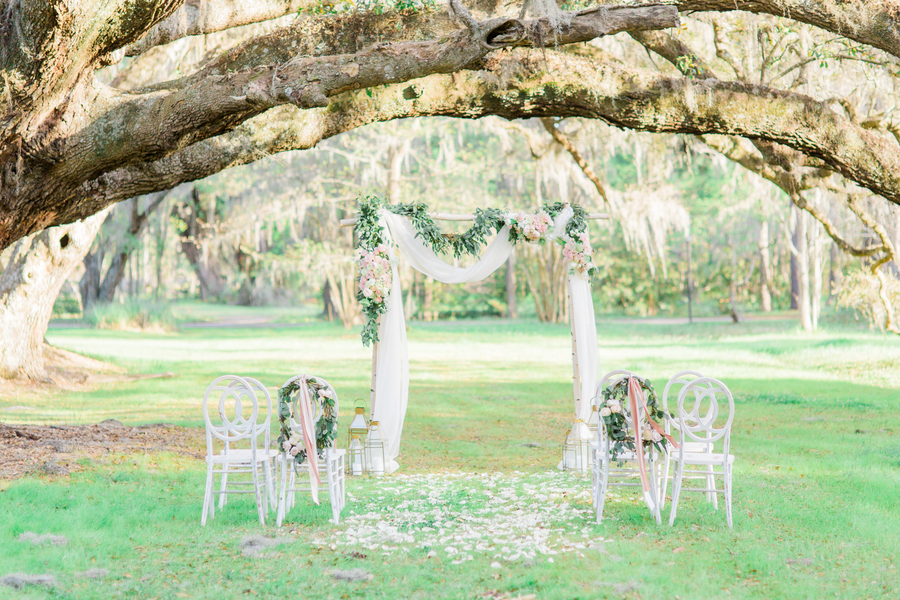 Romantic Elopement at Magnolia Plantation & Gardens in Charleston, South Carolina // Event design by Pure Luxe Bride // on A Lowcountry Wedding Magazine & Blog