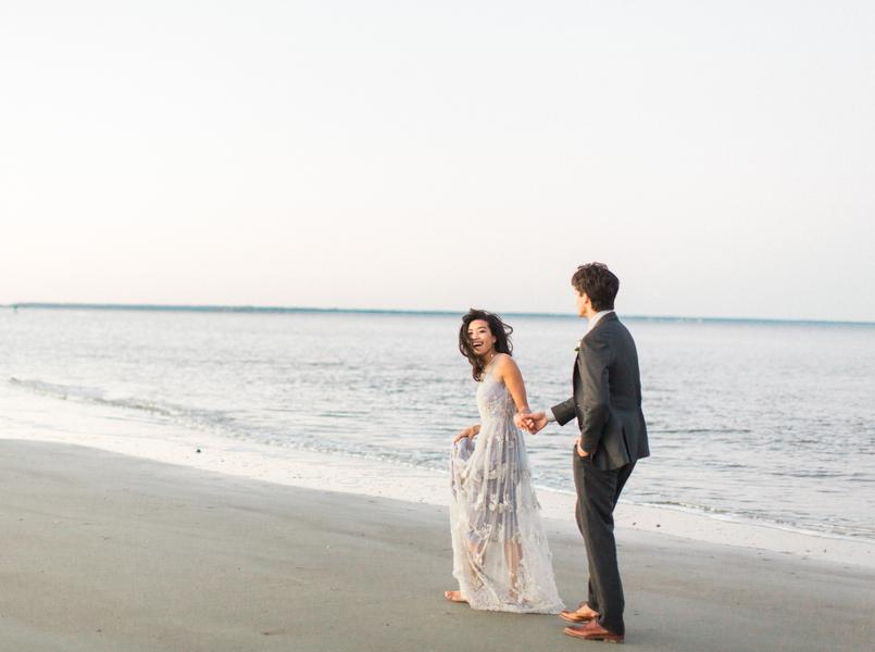 Intimate seaside elopement on Tybee Island  //  Savannah wedding photos by Dee Carlin Photography  //  on A Lowcountry Wedding Magazine & Blog