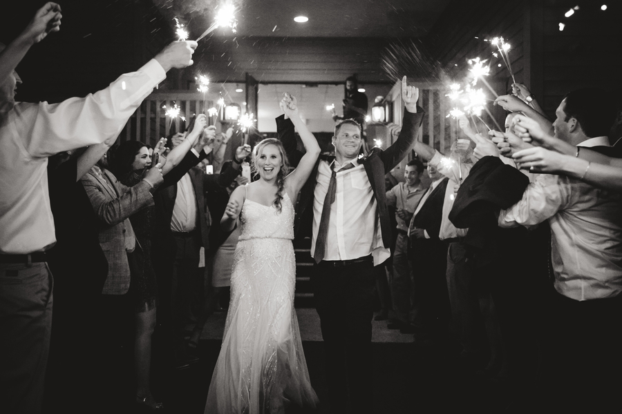 Sparkler exit at Charleston Yacht Club wedding //  Charleston wedding photography by Jeanne Mitchum Photography // on A Lowcountry Wedding Magazine & Blog