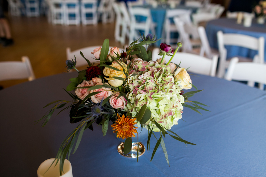 Centerpieces by Anna Bella Florals at Charleston Yacht Club wedding //  Charleston wedding photography by Jeanne Mitchum Photography // on A Lowcountry Wedding Magazine & Blog