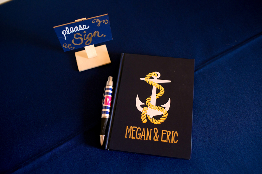 Nautical guestbook at Charleston Yacht Club wedding //  Charleston wedding photography by Jeanne Mitchum Photography // on A Lowcountry Wedding Magazine & Blog