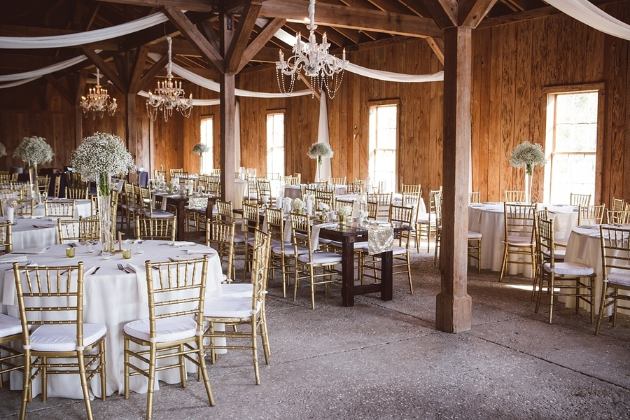 Gold and white wedding reception at The Cotton Dock  //  Charleston wedding photos by amelia + dan photography  //  A Lowcountry Wedding Magazine & Blog