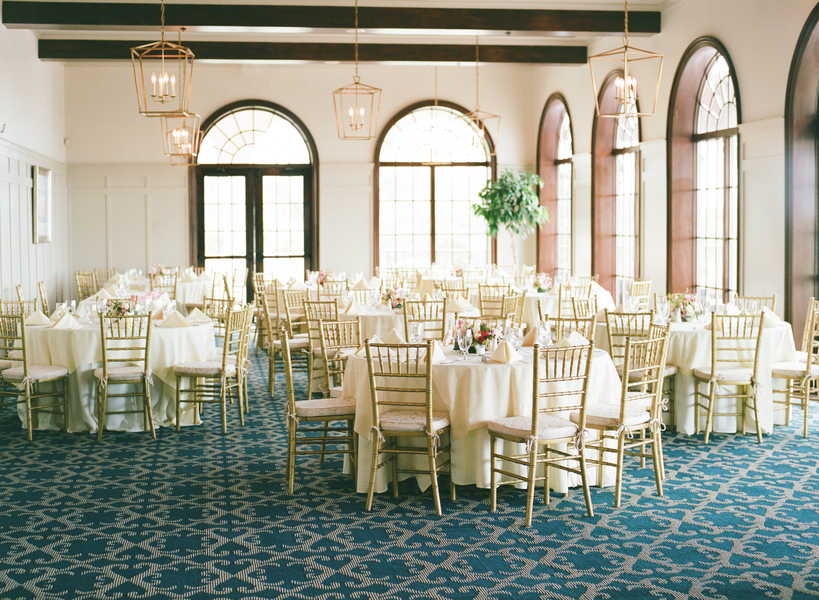 Reception decor with gold chivari chairs at Grande Dunes Ocean Club  //  Myrtle Beach wedding photos by Gillian Claire Photography  //  A Lowcountry Wedding Magazine & Blog