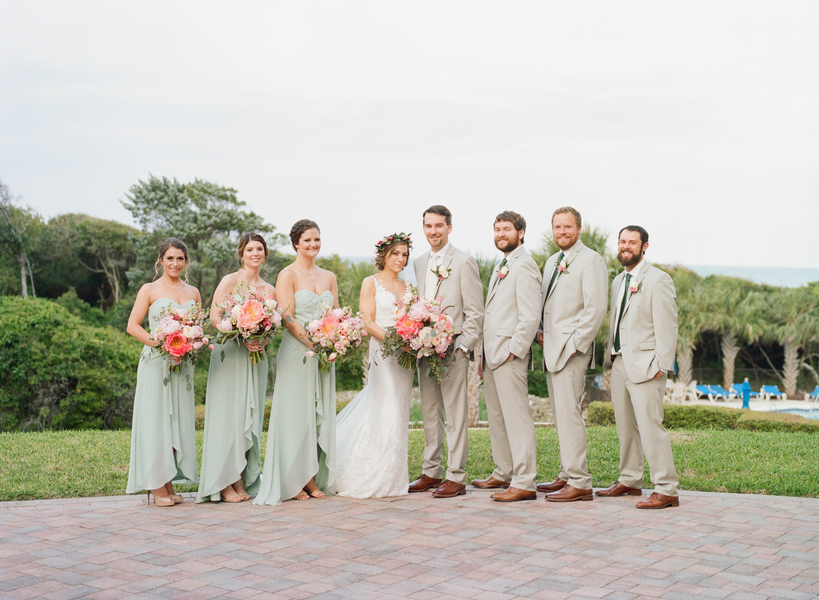 Bridal party at Grande Dunes Ocean Club  //  Myrtle Beach wedding photos by Gillian Claire Photography  //  A Lowcountry Wedding Magazine & Blog