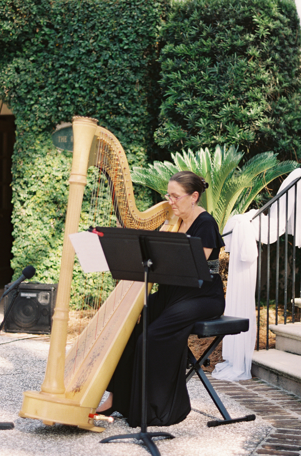 Harpist at The Oldfield River Club wedding ceremony  //  Hilton Head wedding photos by Christi Clark Photography  //  A Lowcountry Wedding Magazine & Blog