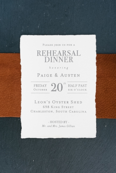 Rehearsal dinner invitations by The Silver Starfish at Leon's Oyster Shed  //  Charleston photos by Elizabeth Ervin  //  A Lowcountry Wedding Magazine & Blog