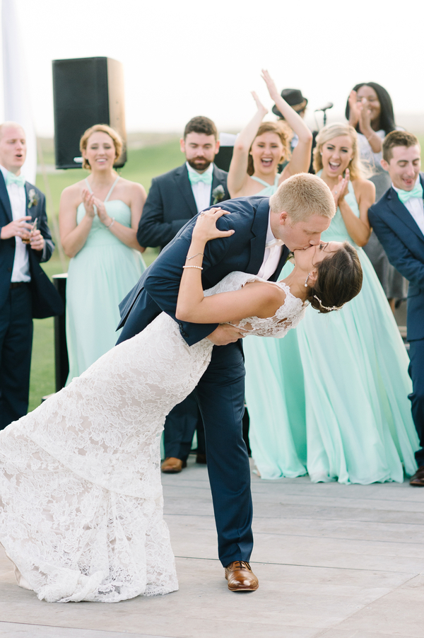 Charleston Bride & Groom's first dance at The Ocean Course