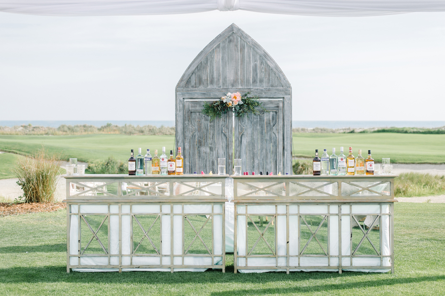 Mirrored bar at The Ocean course on Kiawah Island, SC  //  photographed by Aaron and Jillian