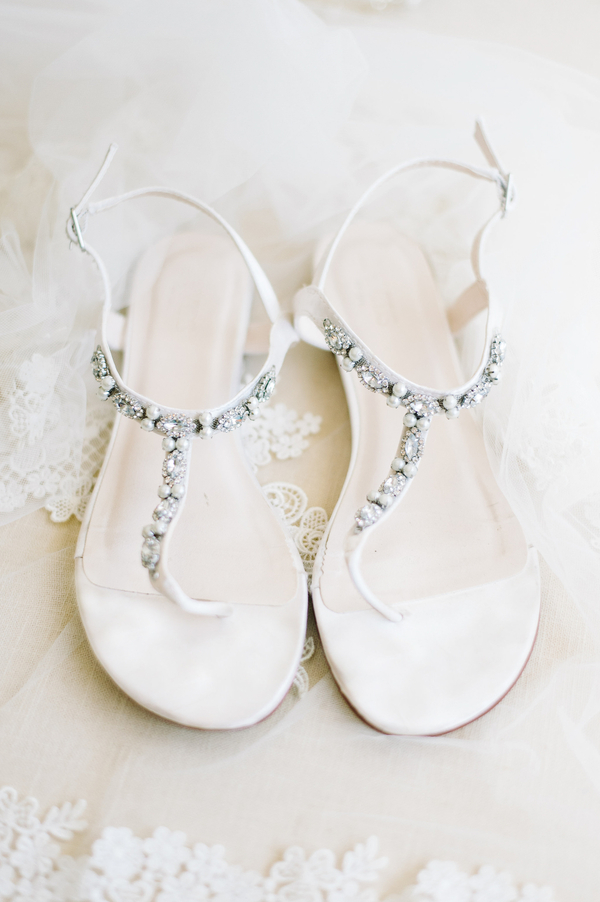Charleston Bride's sandals at The Ocean Course  //  photographed by Aaron and Jillian Photography