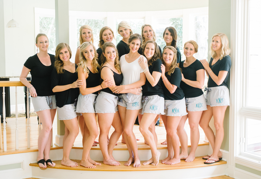 Bridesmaids prepping for Kiawah Island wedding at The Ocean Course  //  A Lowcountry Wedding Magazine