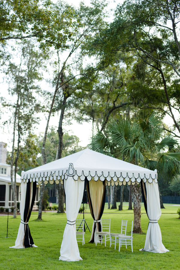Custom tent by Todd Events Paige Hardison & Chris O'Rourke's wedding portraits at Montage Palmetto Bluff in Bluffton, SC  //  Hilton Head Island wedding photos by Donna Von Bruening  //  A Lowcountry Wedding Magazine & Blog