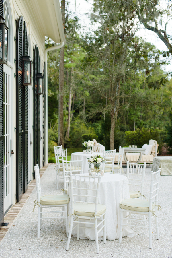 Outdoor seating at Palmetto Bluff wedding  //  Hilton Head Island wedding photos by Donna Von Bruening  //  A Lowcountry Wedding Magazine & Blog