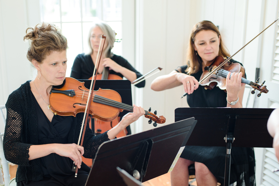String quartet at May River Chapel for Palmetto Bluff ceremony  //  Hilton Head Island wedding photos by Donna Von Bruening  //  A Lowcountry Wedding Magazine & Blog