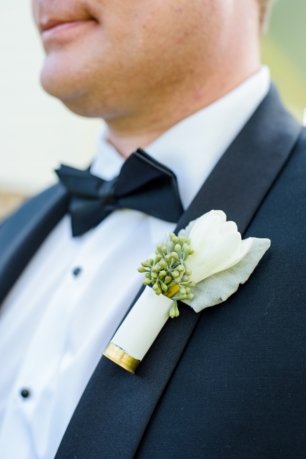 Groomsman's white boutonniere by Todd Events  //  Hilton Head Island wedding photos by Donna Von Bruening  //  A Lowcountry Wedding Magazine & Blog