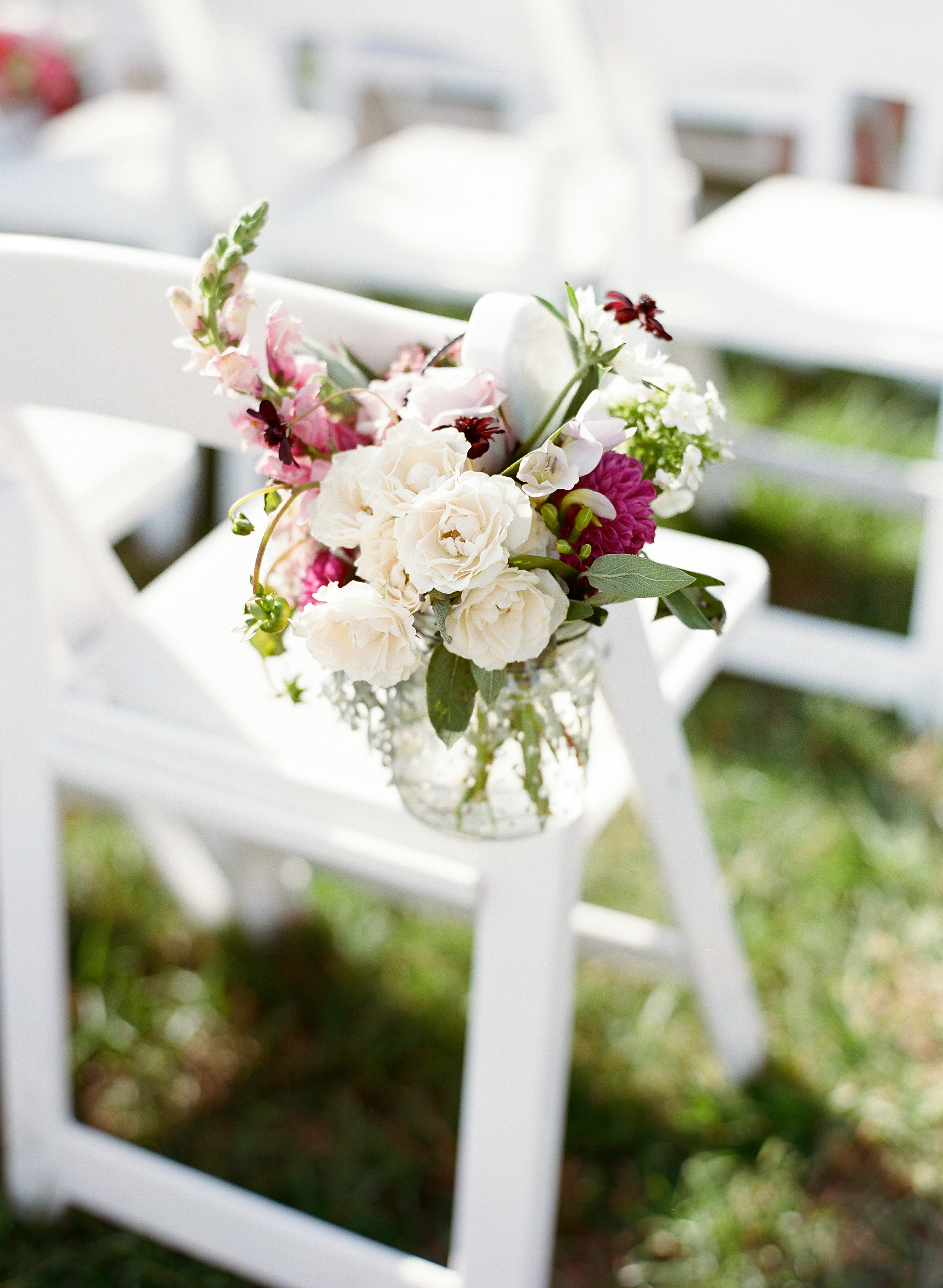 Outdoor wedding ceremony decor at The Island House  //  A Lowcountry Wedding Magazine