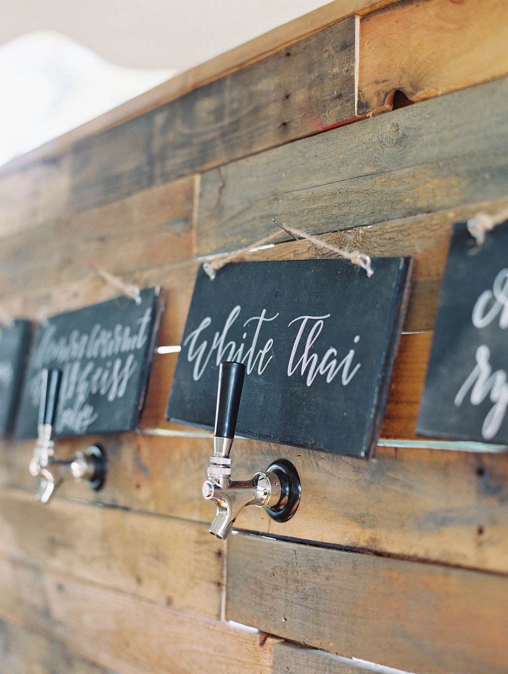 Craft beer station at Oldfield Club wedding  //  HIlton Head photographs by Landon Jacobs  //  A Lowcountry Wedding Magazine
