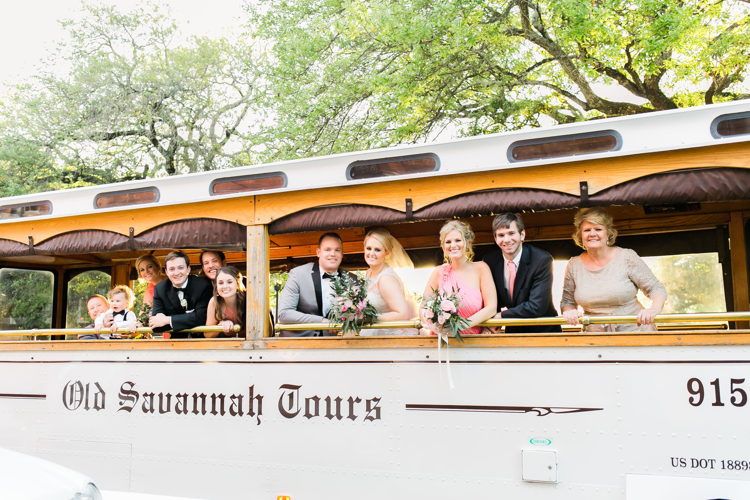 Savannah GA wedding transportation and trolleys - Old Savannah Tours