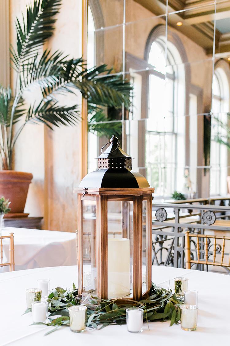 Lantern reception decor at Garibaldi Cafe in Savannah GA  //  A Lowcountry Wedding Magazine