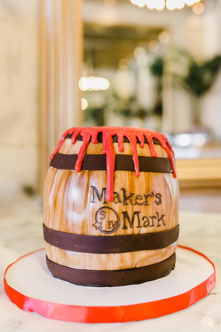 Maker's Mark grooms cake at Garibaldi's Cafe wedding