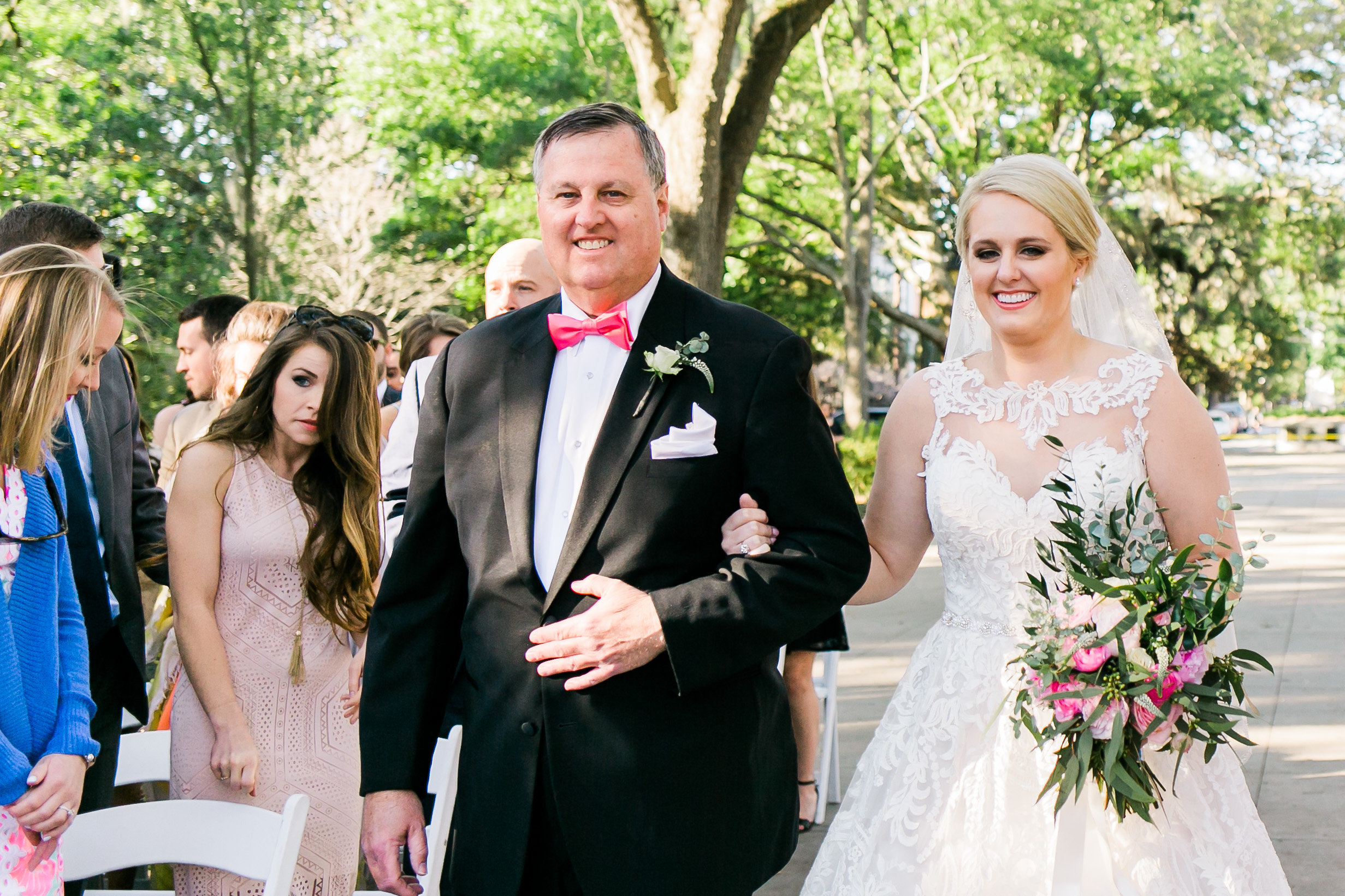 Outdoor wedding ceremony at Forsyth Park in Savannah GA  //  A Lowcountry Wedding Magazine