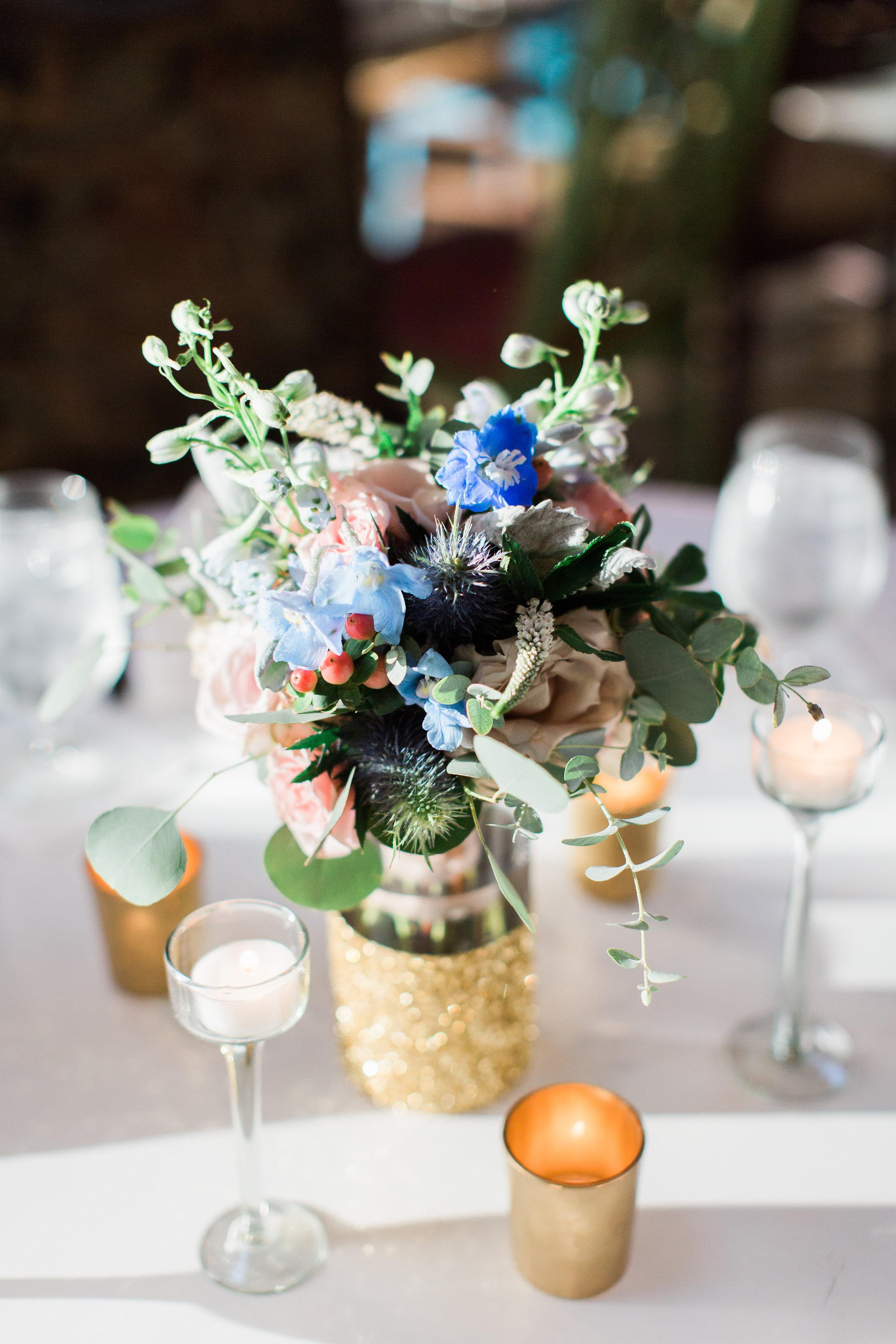 Romantic wedding reception decor at Soho South Cafe  //  A Lowcountry Wedding Magazine