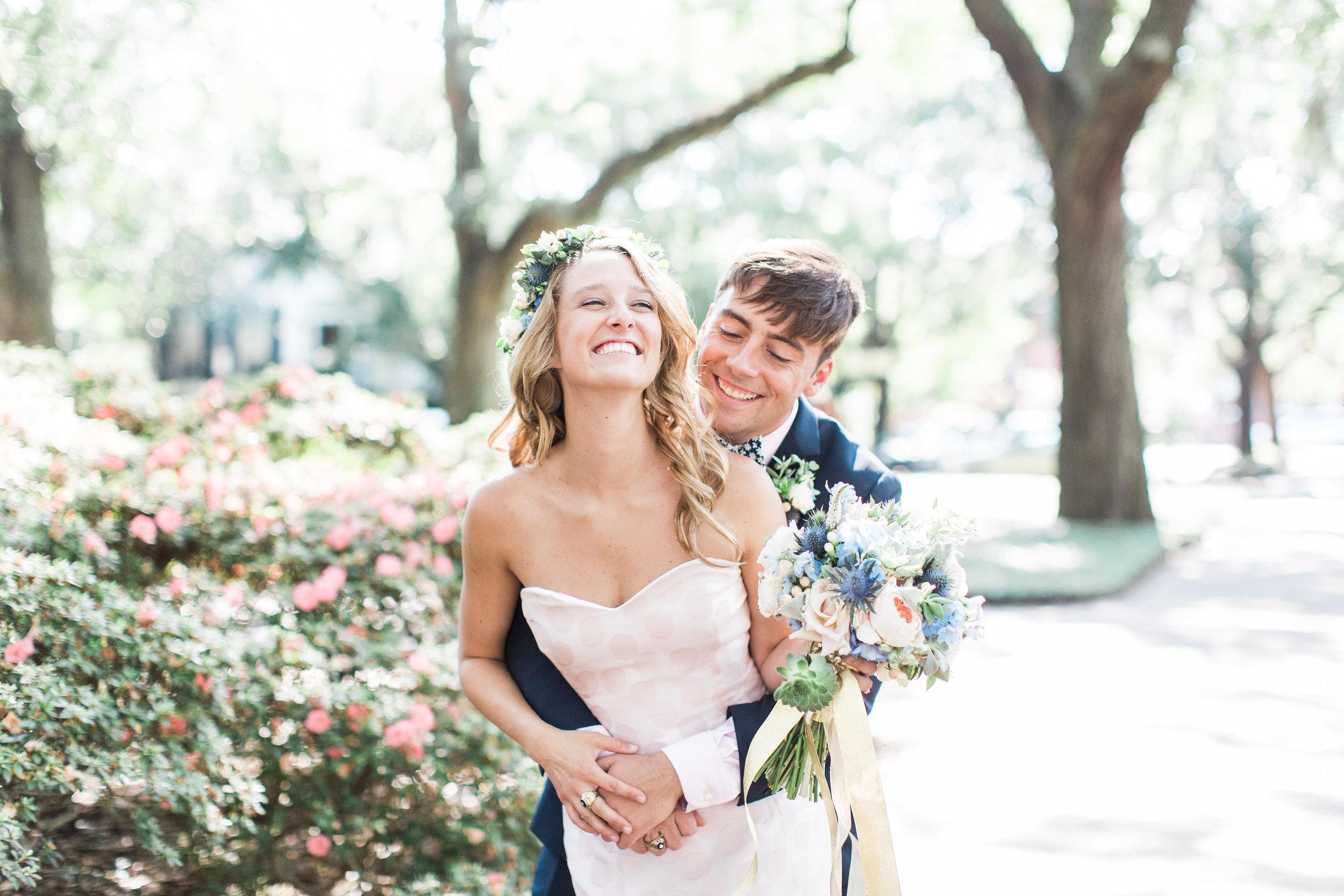 Eve & Patrick's Savannah wedding at Forsyth Park by Apt B Photography