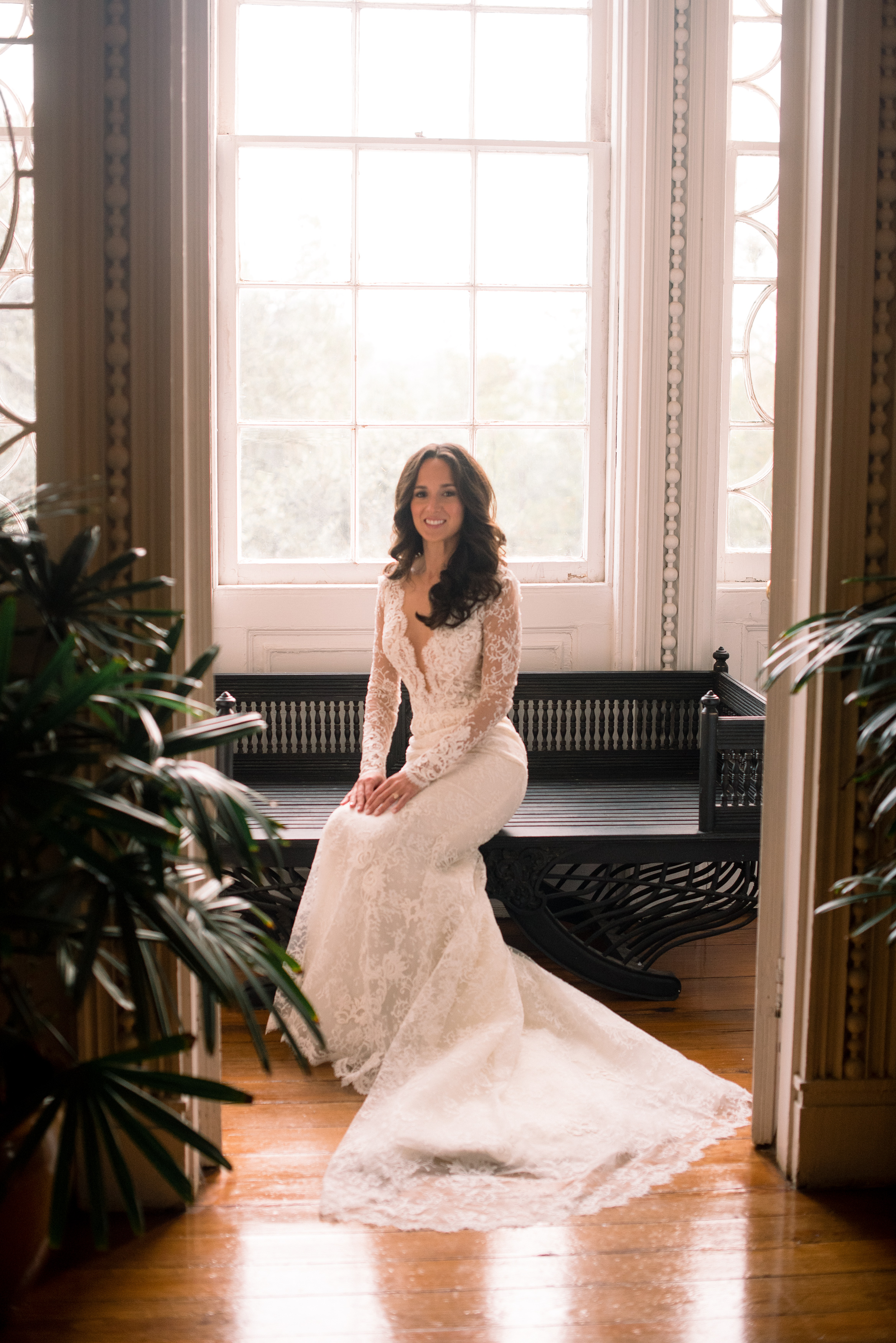 Bride in Ines di Santo gown at Charleston, SC wedding by TIMWILL  //  A Lowcountry Wedding Magazine & Blog