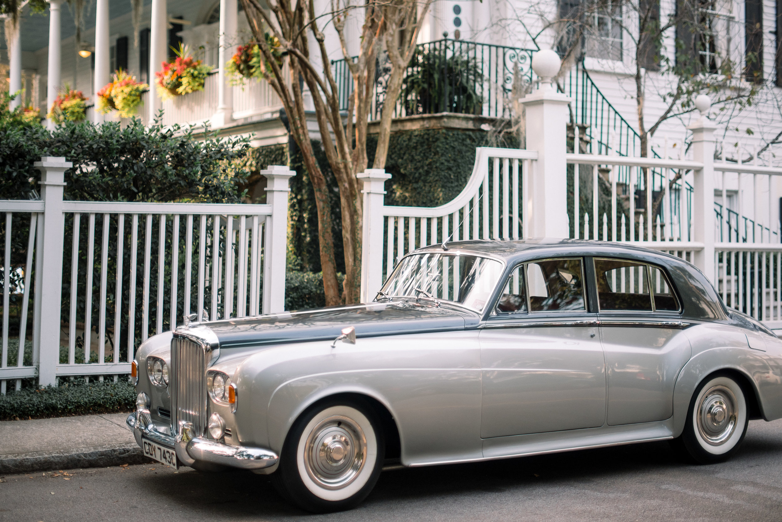 Vintage Style Limo at Governor Thomas Bennett House wedding  //  A Lowcountry Wedding Magazine & Blog