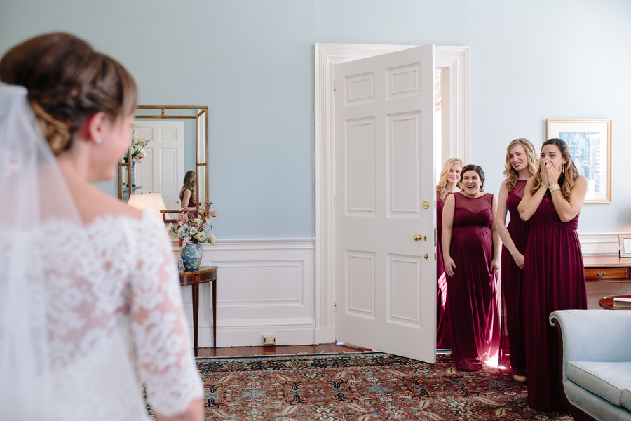 Bridesmaids reveal at The Governor Thomas Bennett House   //  Charleston wedding photos by Riverland Studios  //  A Lowcountry Wedding Magazine & Blog