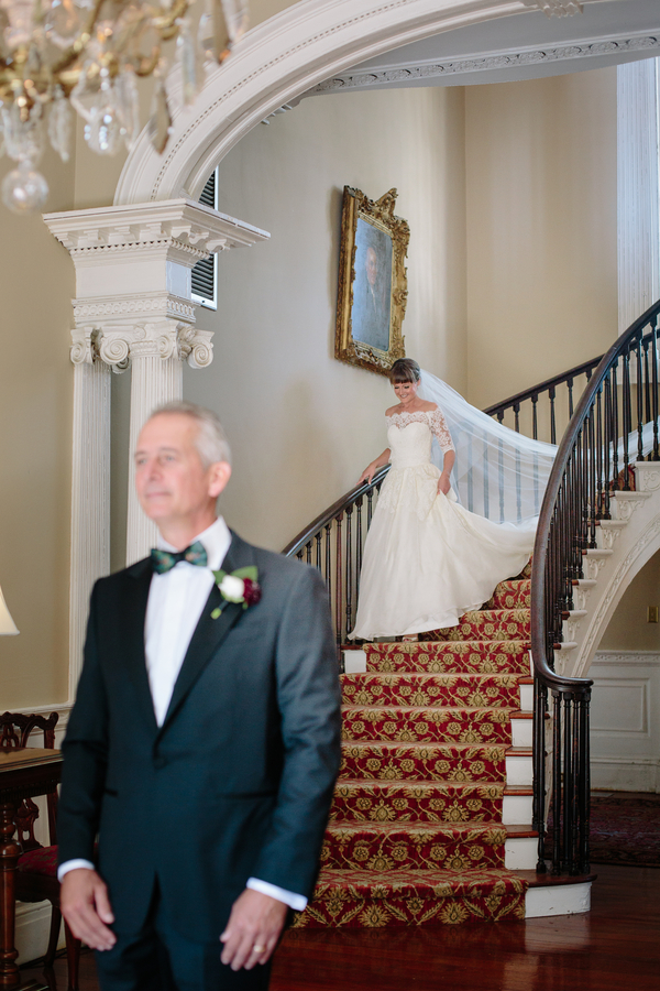 Father Daughter First look   //  Charleston wedding photos by Riverland Studios  //  A Lowcountry Wedding Magazine & Blog