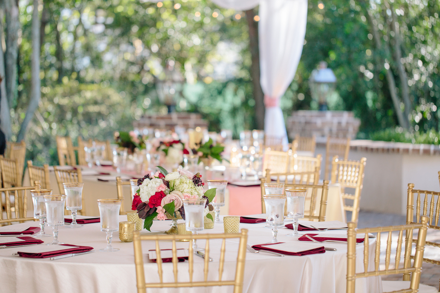 Tented reception with gold chivari chairs   //  Charleston wedding photos by Riverland Studios  //  A Lowcountry Wedding Magazine & Blog
