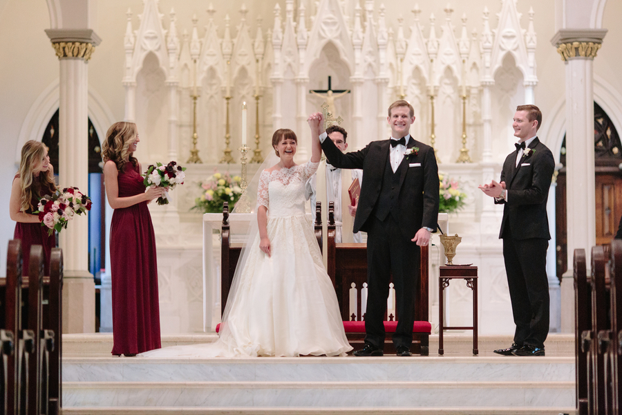 Ceremony at Cathedral of St. John the Baptist   //  Charleston wedding photos by Riverland Studios  //  A Lowcountry Wedding Magazine & Blog
