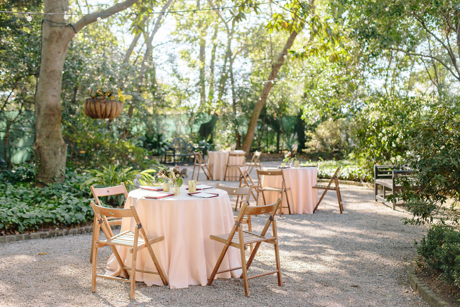 Outdoor reception at The Governor Thomas Bennett House  //  Charleston wedding photography by Riverland Studios  //  A Lowcountry Wedding Magazine & Blog