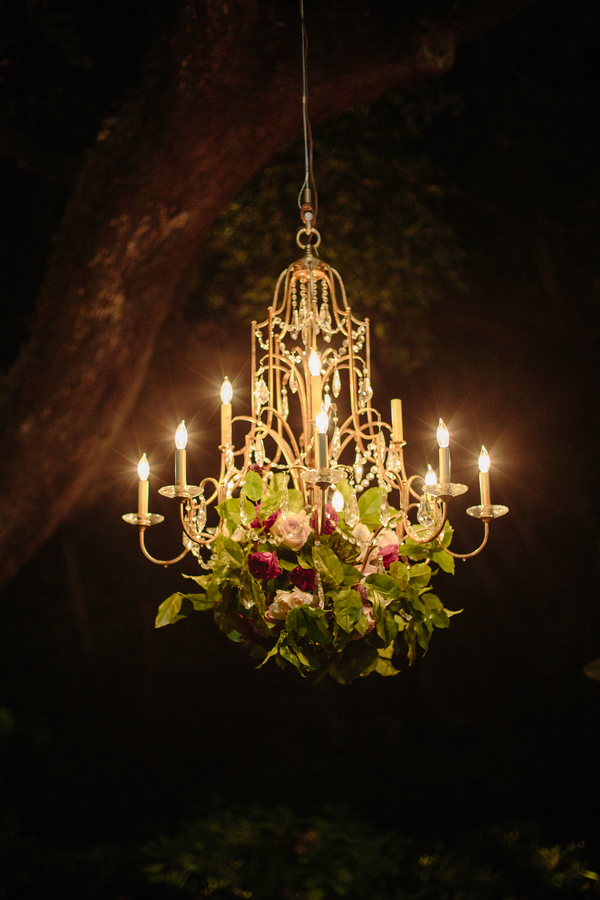 Gold chandelier from EventHaus  //  Charleston wedding photography by Riverland Studios  //  A Lowcountry Wedding Magazine & Blog