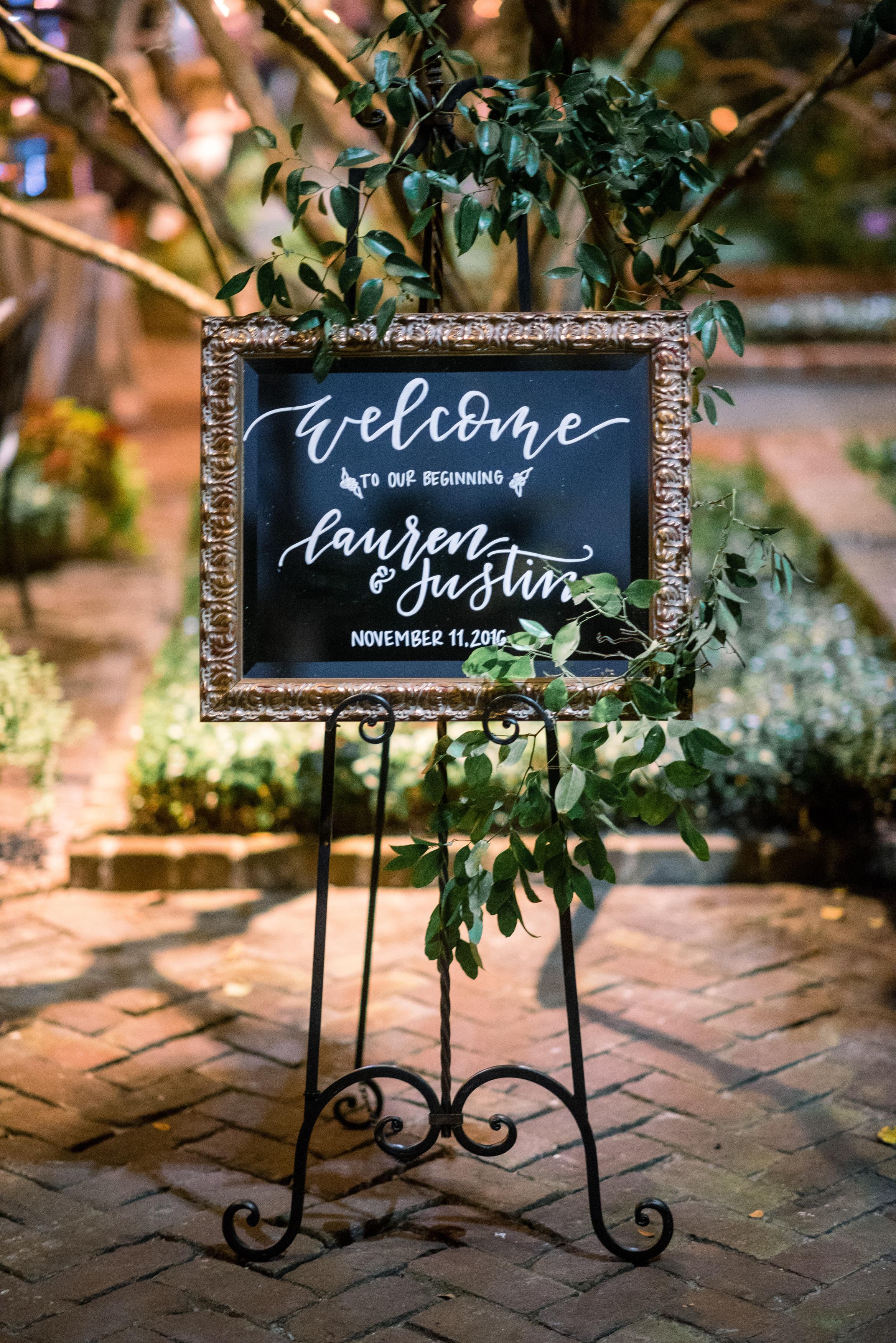 Hand-lettered wedding welcome sign by J.Lily Design  //  A Lowcountry Wedding Magazine & Blog
