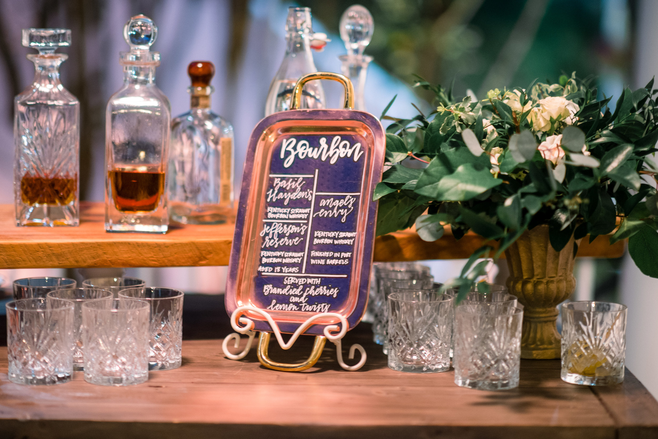 Hand-lettered bar sign by J.Lily Design  //  A Lowcountry Wedding Magazine & Blog