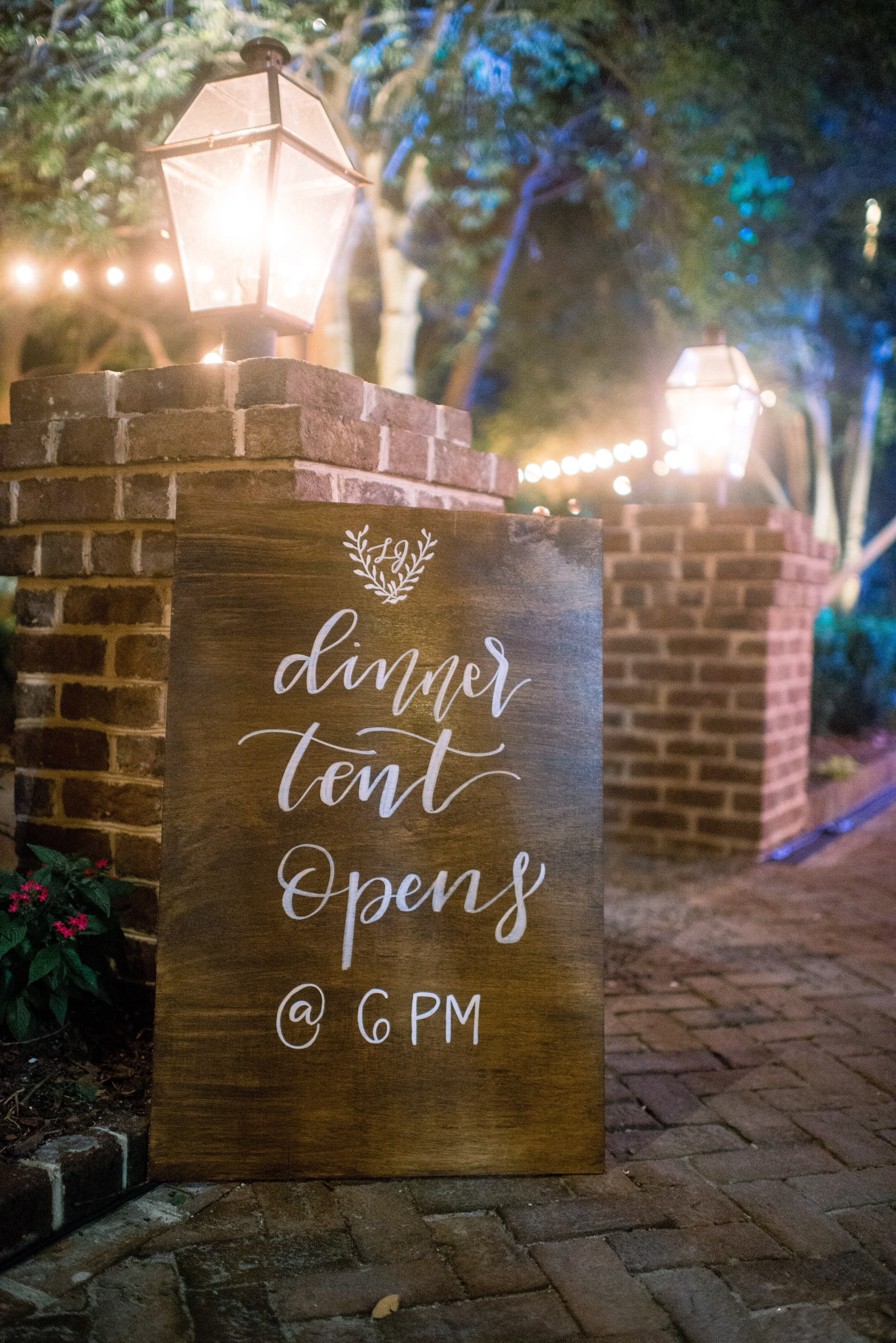 Wedding welcome sign at The Thomas Bennett House //  A Lowcountry Wedding Magazine & Blog