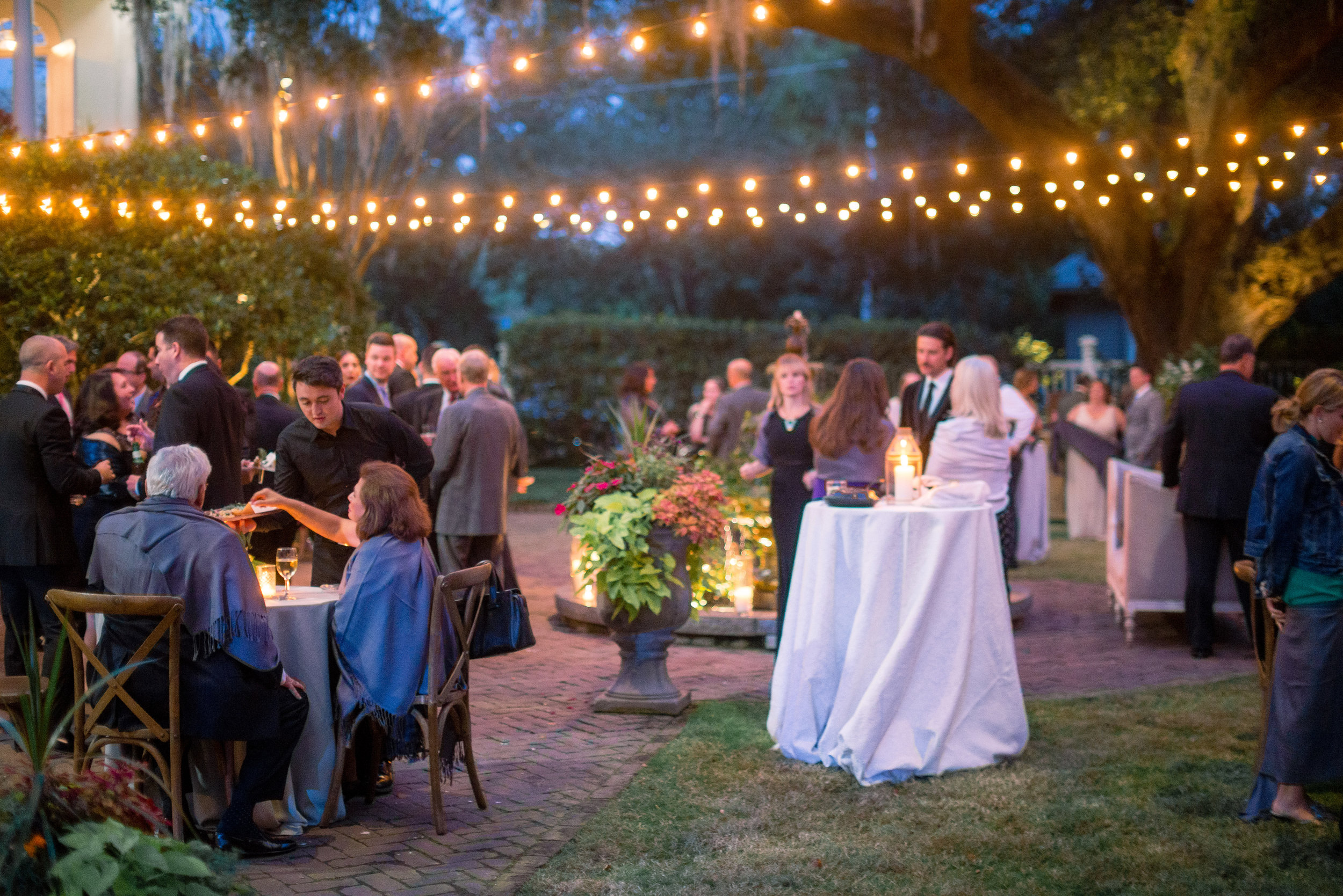 Outdoor reception at a Thomas Bennett House wedding   //  Event Planning & Design by A Charleston Bride  //  A Lowcountry Wedding Magazine & Blog