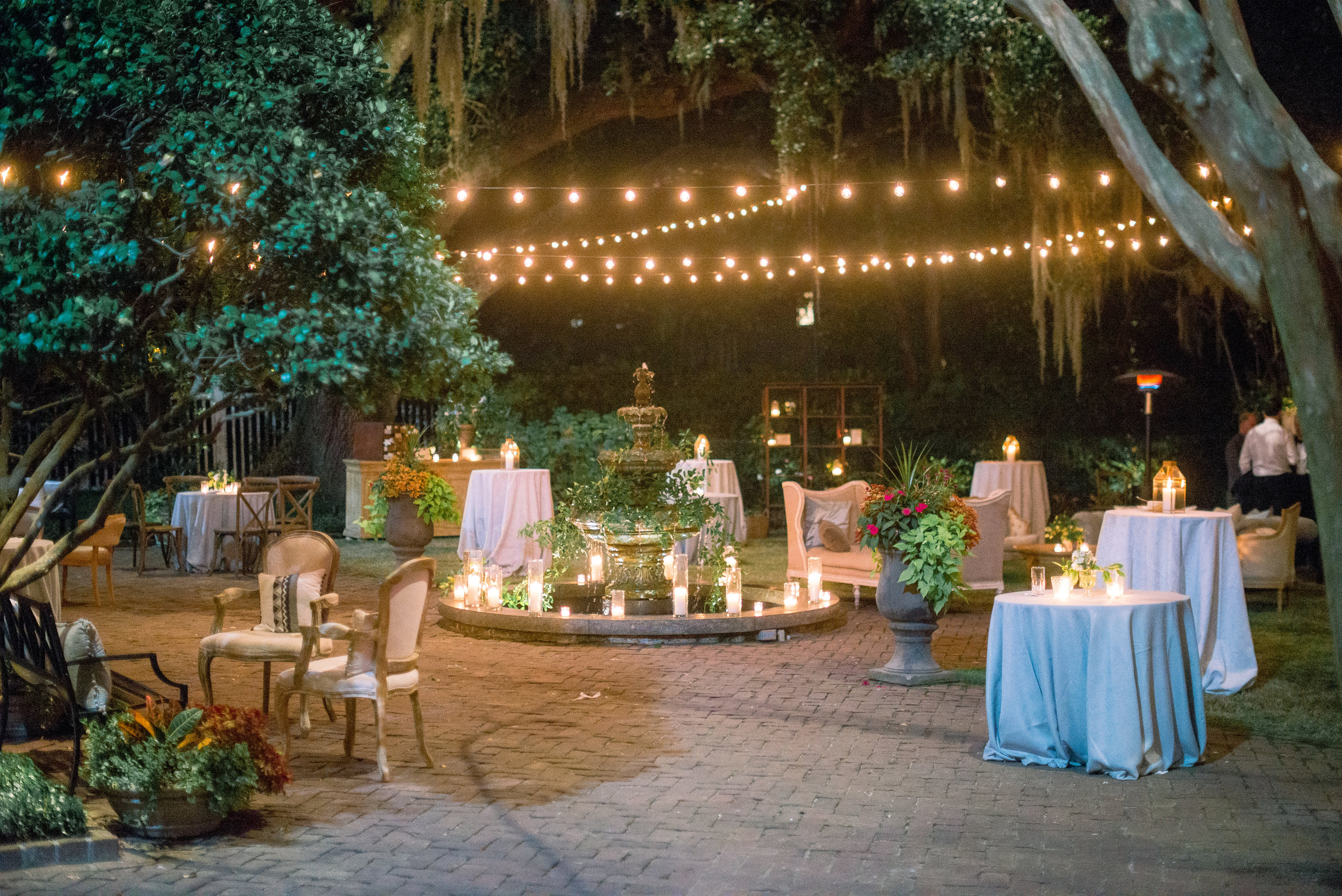 Evening wedding reception at The Governor Thomas Bennett House   //  Event Planning & Design by A Charleston Bride  //  A Lowcountry Wedding Magazine & Blog