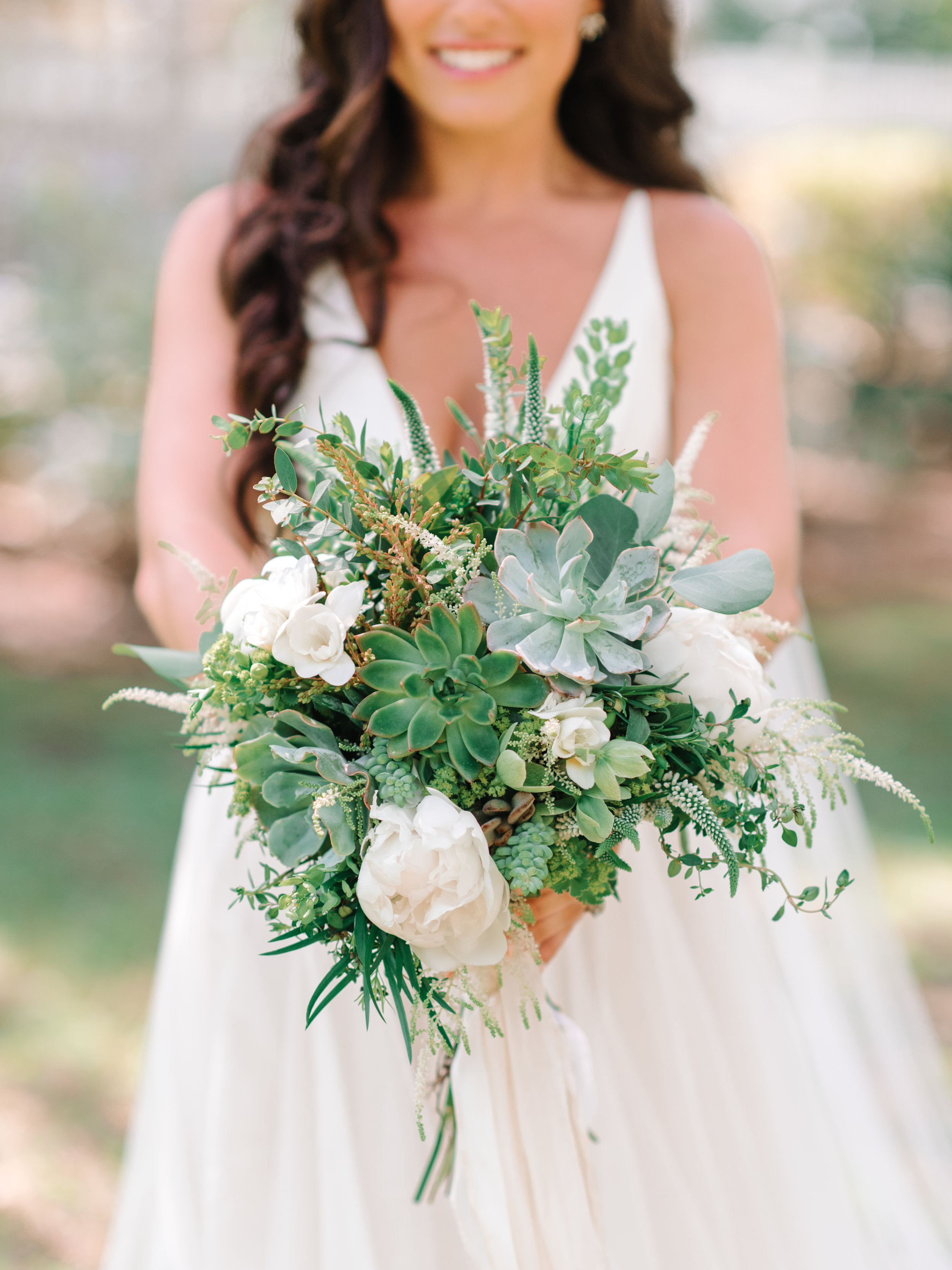 Organic succulent bouquet by Scarlet Begonias for Murrells Inlet wedding  //  A Lowcountry Wedding Magazine & Blog