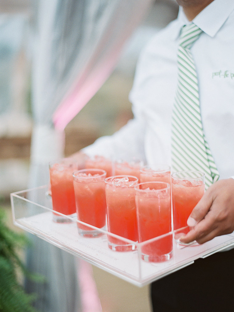 Hurricane specialty wedding drinks at Fripp Island reception photographed by Landon Jacob Photography
