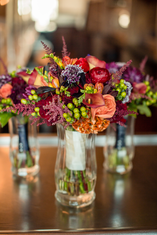 Vibrant bouquets of calla lilies, astilbe and ranunculus for wedding at Harborside East  //  A Lowcountry Wedding Magazine & Blog